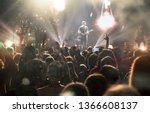 crowd at concert   cheering... | Shutterstock . vector #1366608137