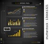 set of techno elements for... | Shutterstock .eps vector #136661321