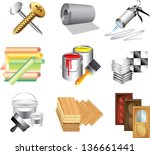 building materials icons...