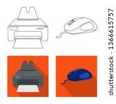 bitmap illustration of laptop... | Shutterstock . vector #1366615757