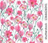 seamless pattern of pink...   Shutterstock . vector #1366626041