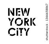 new york city typography modern ... | Shutterstock .eps vector #1366658867