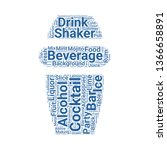 cocktail shaker word cloud. tag ... | Shutterstock .eps vector #1366658891
