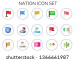nation icon set. 15 flat nation ...   Shutterstock .eps vector #1366661987