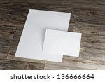 blank corporate identity... | Shutterstock . vector #136666664