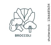 broccoli line icon  vector.... | Shutterstock .eps vector #1366685654