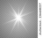 light effect glow. bright star. ... | Shutterstock .eps vector #1366688237
