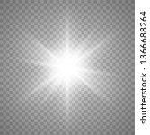 light effect glow. bright star. ... | Shutterstock .eps vector #1366688264
