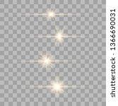 gold glow special light effect... | Shutterstock .eps vector #1366690031