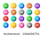 twenty colorful vector numbers... | Shutterstock .eps vector #1366696751