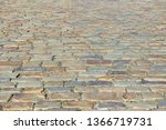 an old stoneblock pavement...   Shutterstock . vector #1366719731