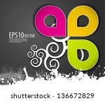 abstract modern banner theme... | Shutterstock .eps vector #136672829