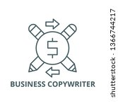 business copywriter line icon ... | Shutterstock .eps vector #1366744217