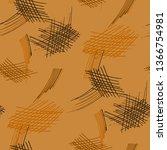 various hatches. seamless... | Shutterstock .eps vector #1366754981