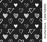 seamless pattern with white... | Shutterstock .eps vector #1366768481