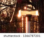 A Streetlight At Sunset. The...