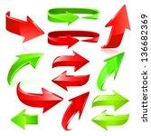 arrow icon set. vector | Shutterstock .eps vector #136682369