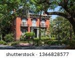 historic district in savannah ...   Shutterstock . vector #1366828577