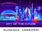 city of future cartoon vector... | Shutterstock .eps vector #1366829444