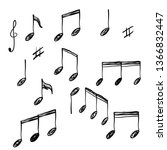 Hand Drawn Music Note Element...