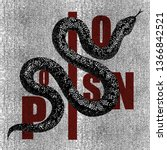 poison snake poster... | Shutterstock .eps vector #1366842521