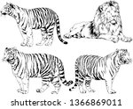 set of vector drawings on the... | Shutterstock .eps vector #1366869011