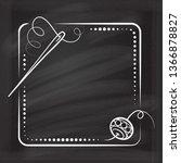 vector vintage square frame...   Shutterstock .eps vector #1366878827