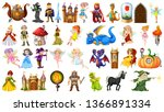 set of medieval character... | Shutterstock .eps vector #1366891334