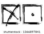 check mark. vector grunge brush ... | Shutterstock .eps vector #1366897841