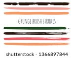 paint lines grunge collection.... | Shutterstock .eps vector #1366897844