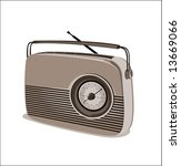old radio vector | Shutterstock .eps vector #13669066