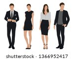 vector of young businessman and ... | Shutterstock .eps vector #1366952417