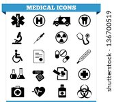 vector set of medical web icons ... | Shutterstock .eps vector #136700519