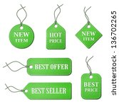 green paper labels set ep10... | Shutterstock .eps vector #136702265