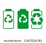 battery recycling icon. battery ... | Shutterstock .eps vector #1367026781