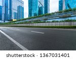 empty cement road and modern... | Shutterstock . vector #1367031401