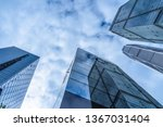low angle view of skyscrapers... | Shutterstock . vector #1367031404