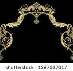 golden elements in baroque ... | Shutterstock . vector #1367037017