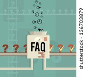 vector illustration of a faq... | Shutterstock .eps vector #136703879