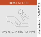keys in hand vector icon eps 10 | Shutterstock .eps vector #1367039711