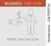 business profit vector. dollar... | Shutterstock .eps vector #1367039714