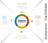 four options diagram template... | Shutterstock .eps vector #1367050484