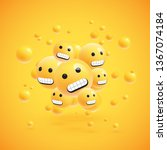 group of high detailed yellow... | Shutterstock .eps vector #1367074184