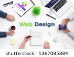 web design text on work desk...