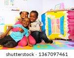 kids play and hug in... | Shutterstock . vector #1367097461