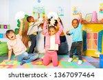 kids show weather card storm... | Shutterstock . vector #1367097464