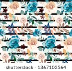 seamless pattern with detailed... | Shutterstock .eps vector #1367102564