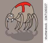 spider and torn web. scary...   Shutterstock .eps vector #1367130227