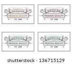 template frame label design for ... | Shutterstock .eps vector #136715129