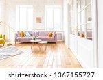 spacious studio apartment... | Shutterstock . vector #1367155727